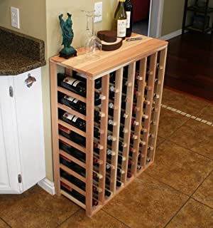 creekside 48 bottle table wine rack redwood by creekside exclusive 12 inch deep - Wine Rack Table