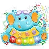 STEAM Life Educational Baby Musical Toys - Light Up Baby Toys Piano Keyboard - Toddler Piano with 5 Numbered Keys - Plays Son