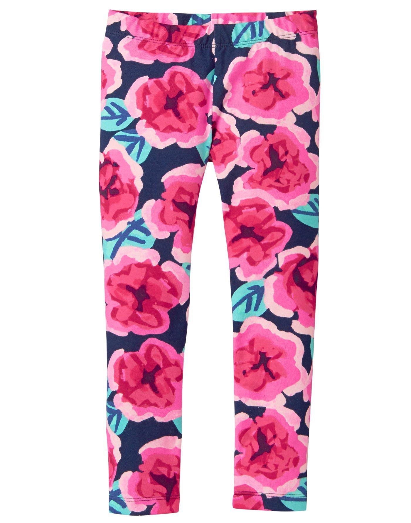 Gymboree Little Girls' Basic Print Legging, Large Floral Print, M by Gymboree (Image #1)