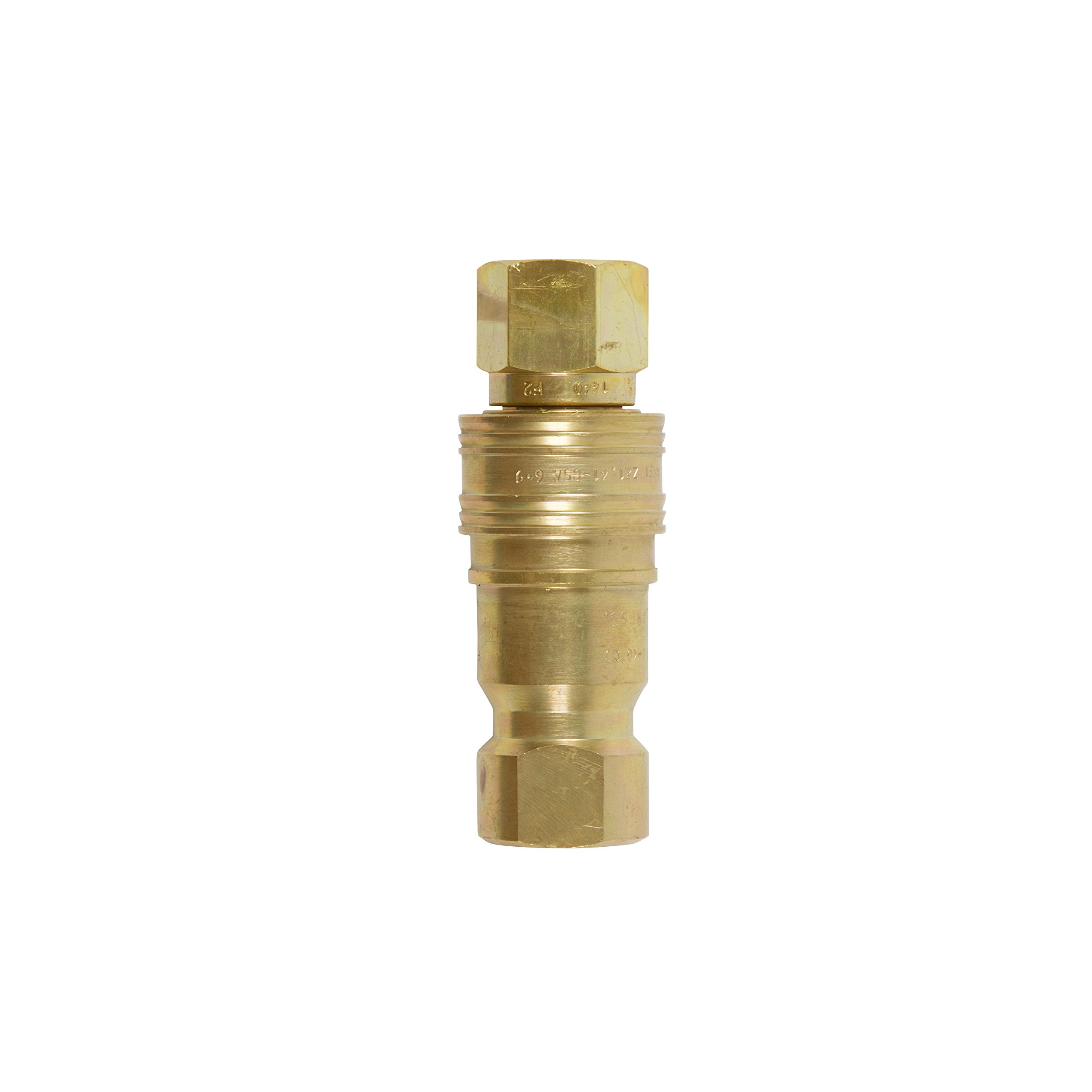 Gas Fire Pit/ Heater BRASS HEAVY DUTY QUICK CONNECT/ DISCONNECT SUPPLY AND RECEIVING SIDES FOR PROPANE / NATURAL GAS (1/2'' Complete Quick Connect)