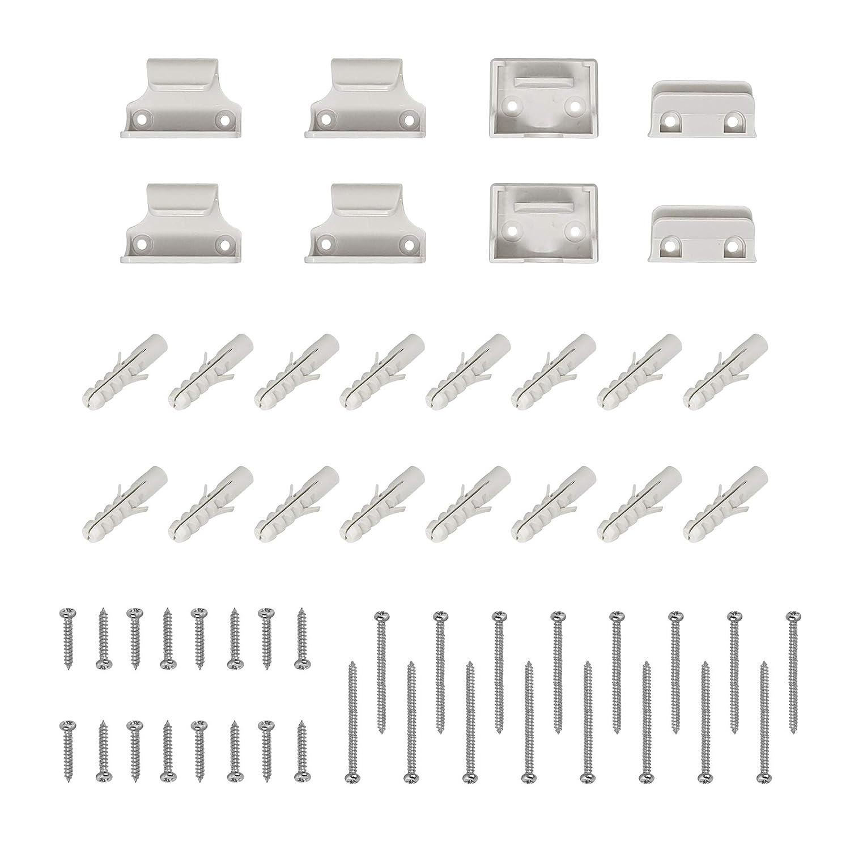 Callowesse/® - Farbe: Grau Einziehbares Sicherheitsschutzgitter 0-130 cm 110 cm bei Verwendung als Schutzgitter f/ür Kinder