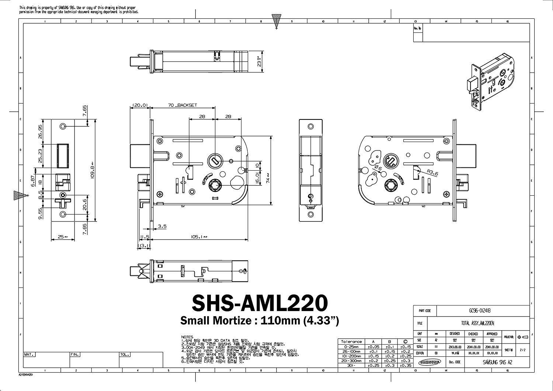 Samsung Smart Door Lock EZON SHS-H625 SHS-H625FMK/EN Digital Door Lock ENGLISH VERSION* (New version of SAMSUNG SHS-5120)