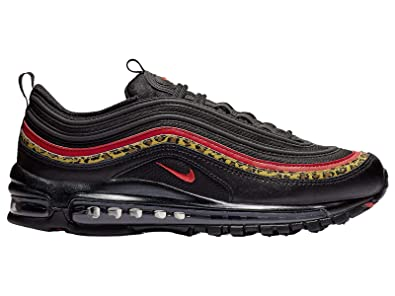 various colors f57fd 5b070 Nike Women's Air Max 97 Black/University Red/Print Leather Casual Shoes 9 M  US
