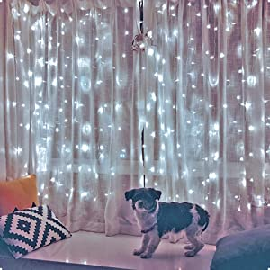 Ever Smart String Lights, 8 Modes Daylight White 19.68 ft9.8 ft 594 Fairy Light, LED String Lights for Home, Bedroom, Garden, Party, Festival, Holiday Decorations