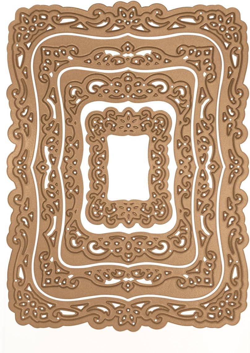 8 Piezas Elementos Decorativos para Manualidades Spellbinders