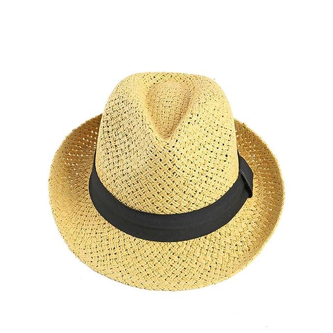 3243864c97bb8 La Sra Verano La Versión Coreana Sombreros Tejidos A Mano Sombrero De Paja  Los Viajes De Sombrero Al Aire Libre Tapa De Vacaciones  Amazon.es  Ropa y  ...