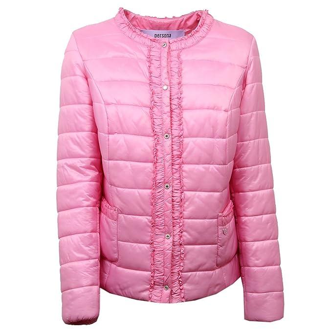 D5178 Woman Donna Piumino Persona Jacket Rosa 100 Grammi Giubbotto THqvUB6
