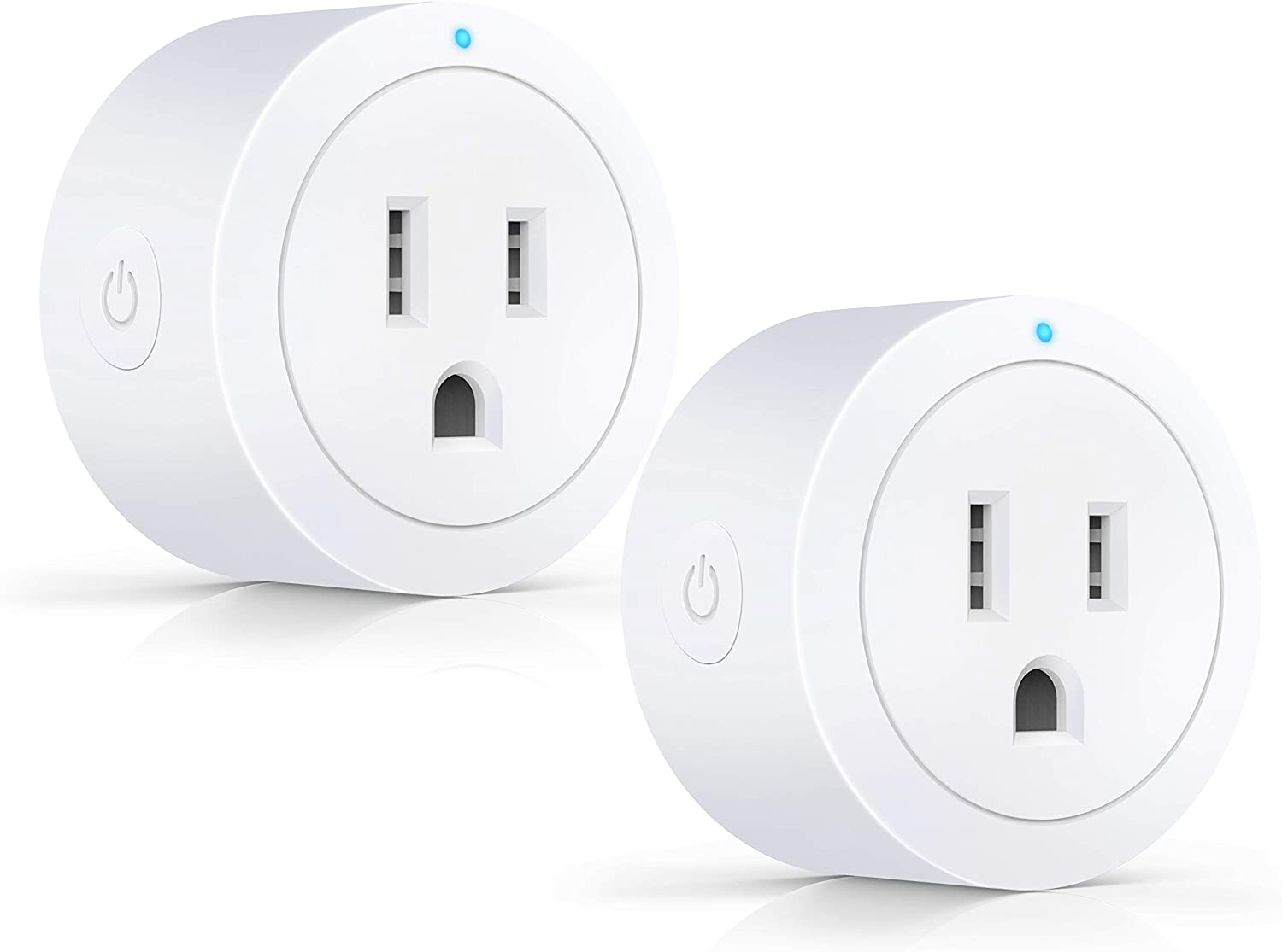 Smart plug ESICOO, Compatible with Alexa, Google Assistant & IFTTT, ETL Certified, Only Supports 2.4GHz Network, Smart Outlet No Hub Required, Control Your Devices from Anywhere