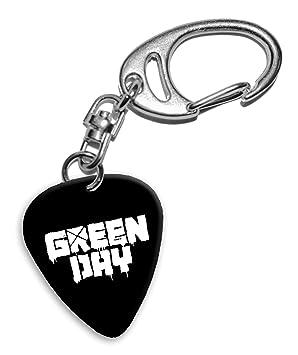 Green Day Band Logo Llavero de púa de guitarra (H): Amazon ...
