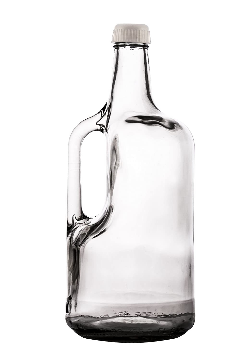 Amazon.com: SafePro 1750, 0.75L / 25.4-ounce Clear Glass Bottle with Handle and Screw Lid, Vintage Style Bottle for Milk Water Oil Vinegar, Glass Bottle ...