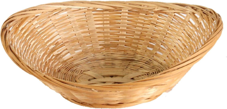 Corbeilles /à pain ovale en bambou et osier naturels 6 Baskets Longueur : 20 cm. Bois dense