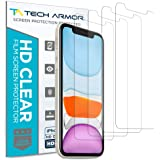 Tech Armor Apple iPhone XR HD Clear Film Screen Protector [4-Pack] Case-Friendly, Scratch Resistant, Haptic Touch…