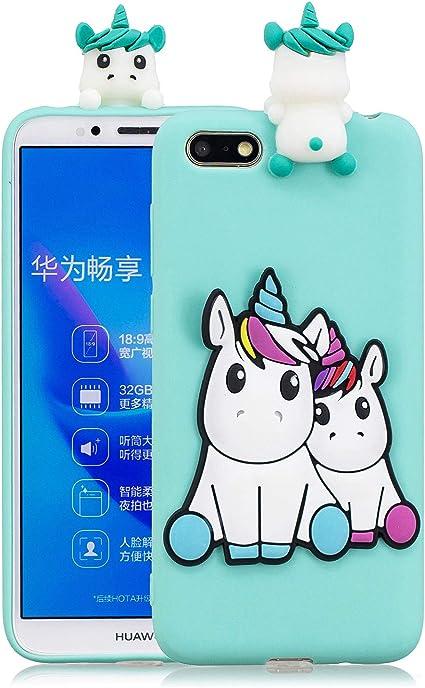 HopMore Compatibile con Cover Huawei Y5 2018 Silicone Disegni 3D Panda Animal Divertenti Fantasia Gomma Morbido Custodia Huawei Y5 2018 Antiurto ...