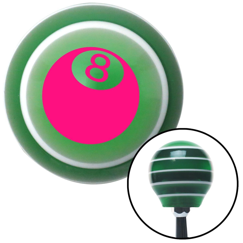 Pink 3D 8 Ball American Shifter 121983 Green Stripe Shift Knob with M16 x 1.5 Insert