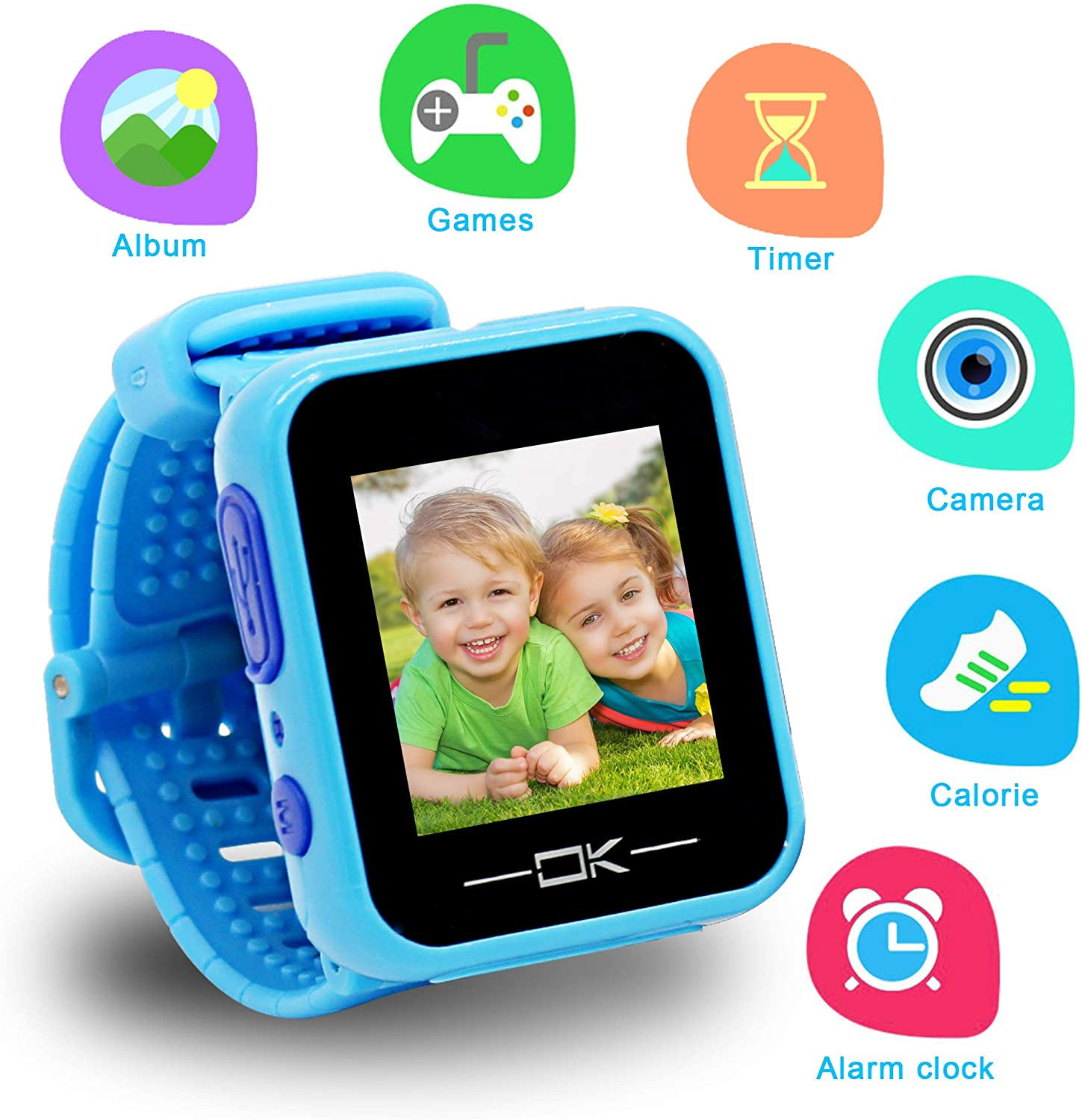 Gifts for 3-10 Year Old Boy Pussan Smart Watches for Kids Toddler Watch with Camera USB Charging Best Toy Christmas Birthday Gifts for Kids Smartwatch ...