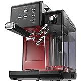 Oster BVSTEM6701B-013 PrimaLatte - Cafetera automática con 19 bares, Negro/Rojo