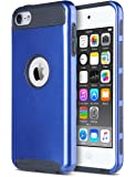 iPod Touch Case,iPod touch 5/6th Generation Case,ULAK Dual Layer Slim Protective Hybrid iPod Touch Case Hard PC Cover for Apple iPod touch 5 6th Generation-Navy Blue/Black