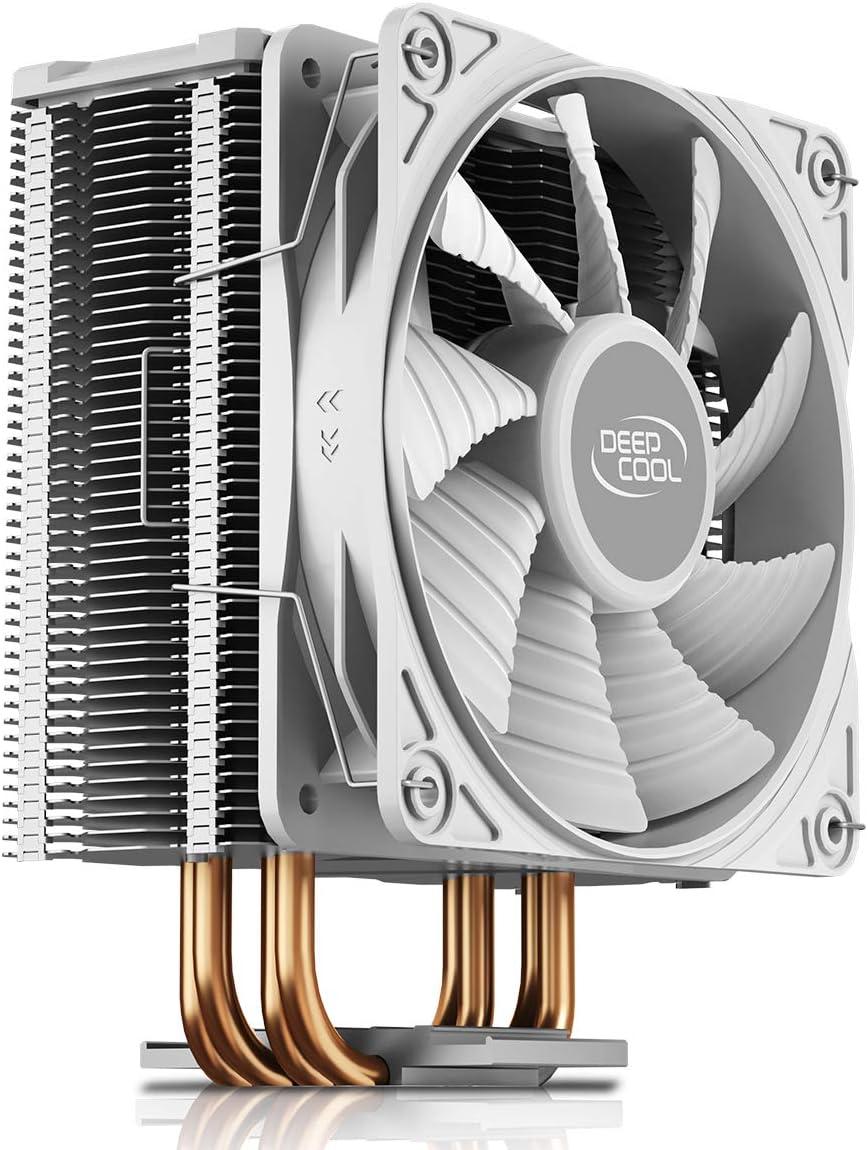 CPU-Luftk/ühler mit 4 Heatpipes DEEP COOL GAMMAXX 400 V2 Red 120 mm PWM-L/üfter und Rot LED f/ür Intel//AMD-CPUs