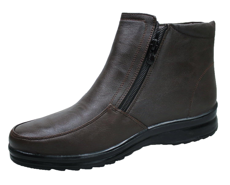 AK collezioni Scarpe stivaletti uomo testa di moro casual invernali  sneakers polacchine con pelliccia interna numero 40 41 42 43 44 45   Amazon.it  Scarpe e ... 3f1fbc5e4a4