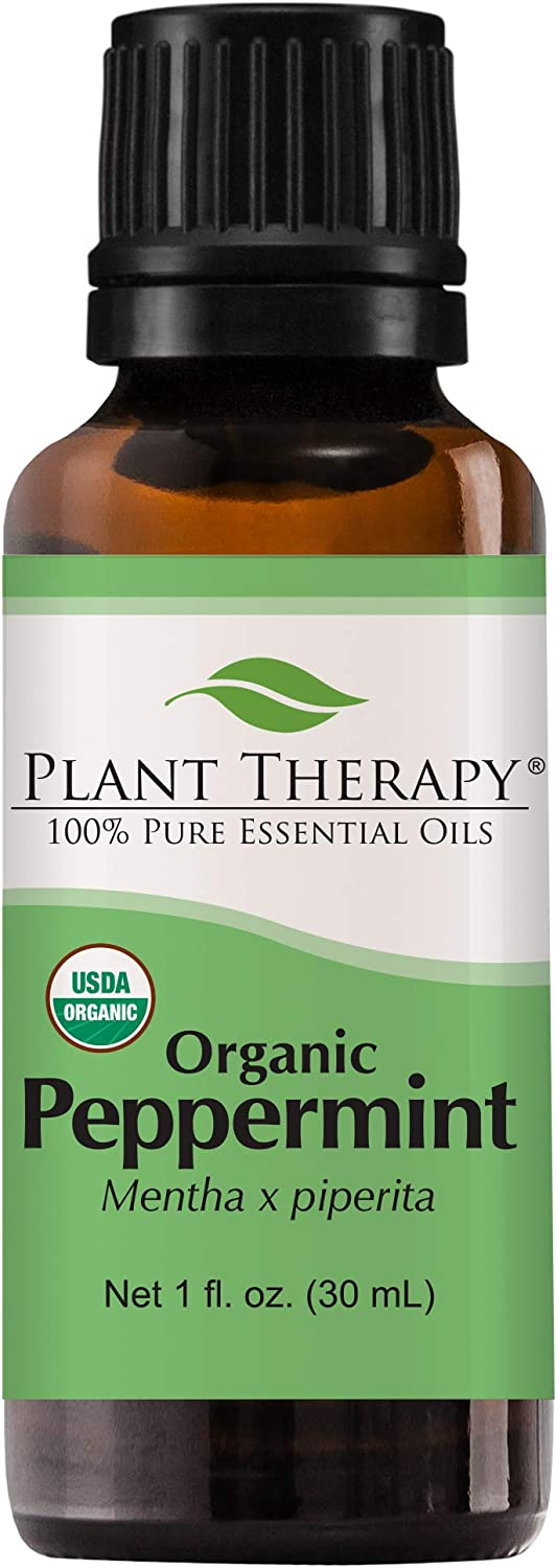 Plant Therapy Peppermint Organic Essential Oil 100% Pure, USDA Certified Organic, Undiluted, Natural Aromatherapy, Therapeutic Grade 30 mL (1 oz)