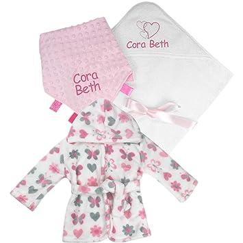 Juego de toalla de baño con capucha personalizable para bebé, niña y chica: Amazon.es: Bebé