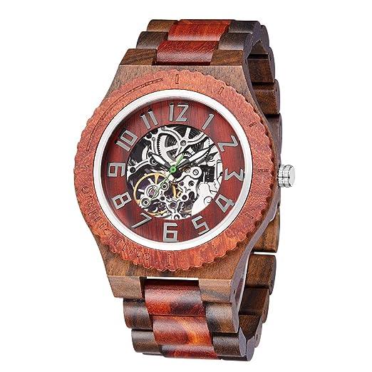 Reloj De Madera para Hombres-Artesanía Artesanal Madera Relojes-Madera Reloj -Relojes mecánicos