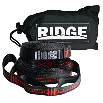 ridge unlimited 2 piece camping hammock strap set with nylon stuff sack red amazon    ridge unlimited 2 piece camping hammock strap set with      rh   amazon