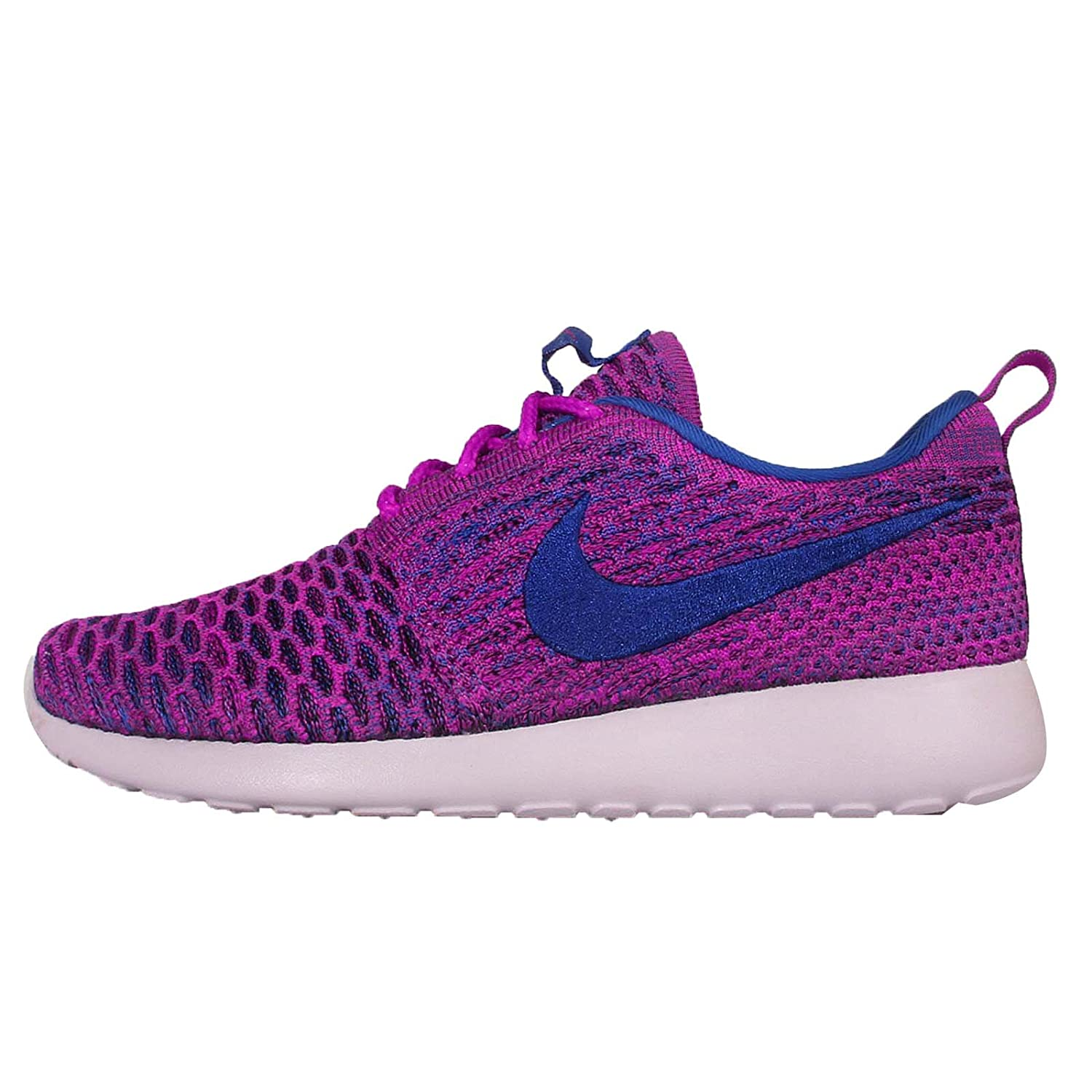 NIKE Womens Roshe One Flyknit Flyknit Colorblock Running Shoes B010JMD4QU 7.5 B(M) US|Fuchsia