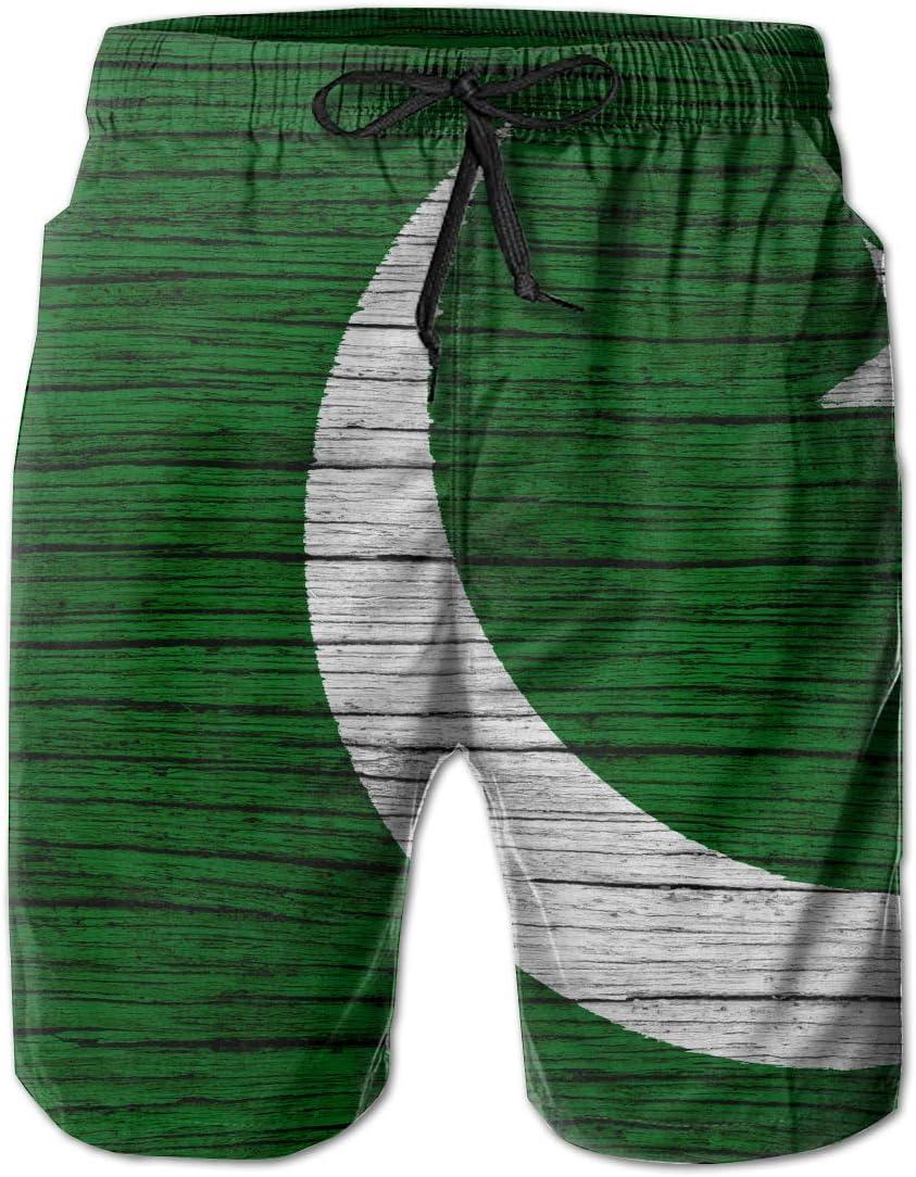 HFSST Pakistan Wooden Texture Pakistani Flag Men Kid Male Summer Swimming Pockets Trunks Beachwear Asual Shorts Pants Mesh