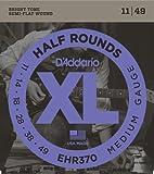 D'Addario EHR370 Half Round Electric Guitar Strings, Medium, 11-49