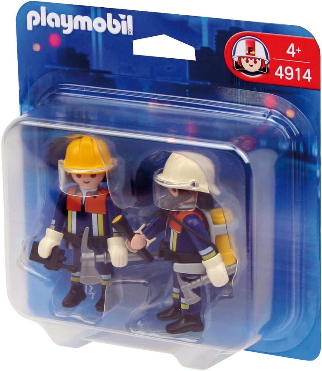 PLAYMOBIL - Pack de 2 Figuras Bomberos (4914): Amazon.es: Juguetes ...