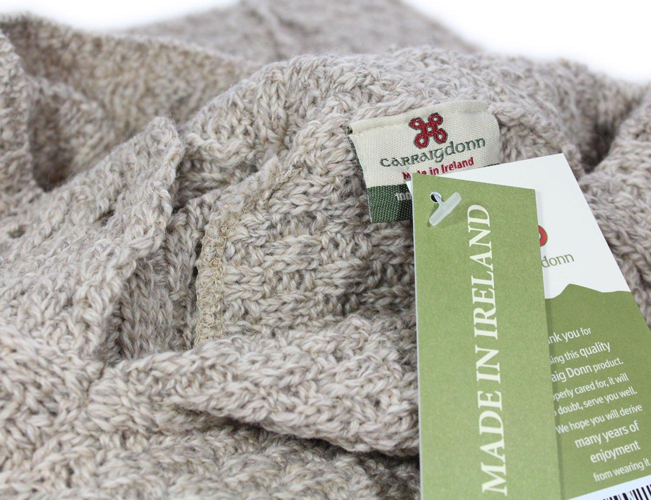 Fisherman Knit Poncho 100% Merino Wool Natural by Carraig Donn (Image #6)