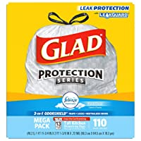 Deals on 110-Ct Glad Tall Kitchen Drawstring Trash Bags 13 Gallon