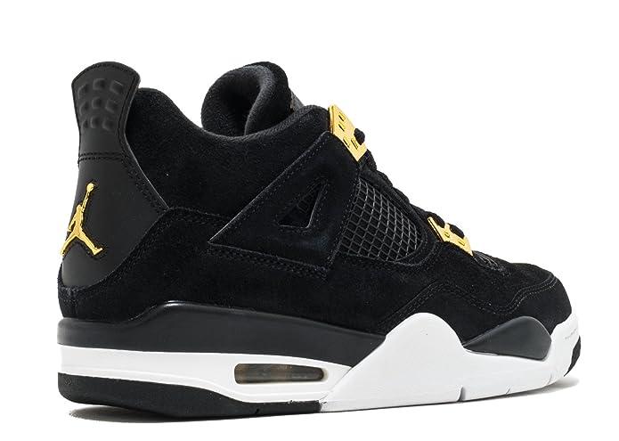 Amazon.com | Jordan Big Kids Air Jordan IV Retro (GS) (black / metallic  gold-white) Size 6.0 US | Basketball