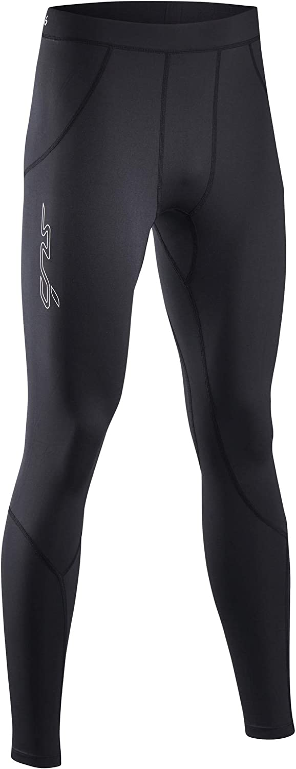 Black Sub Sports Fitted Cold Thermal Mens Running Tights
