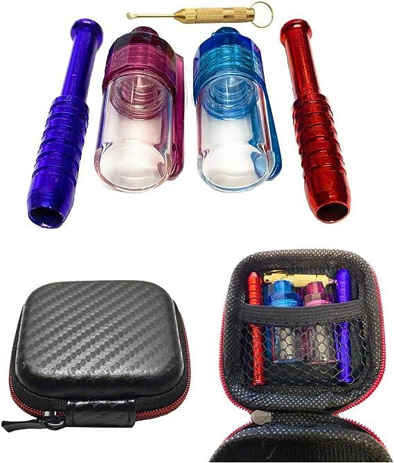 M&M Smartek - Juego de chupetes de tamaño pequeño para el Bolso, Estuche Negro con Dos Tubos, Dos dosificadores y una Cuchara pequeña (Tabaco para chupetes) para el Bolsillo: Amazon.es: Hogar