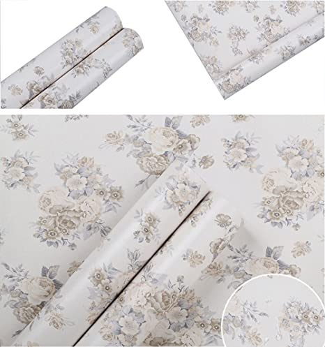 Decoratif Floral Vintage Contact Papier Vinyle Autocollant Tiroir