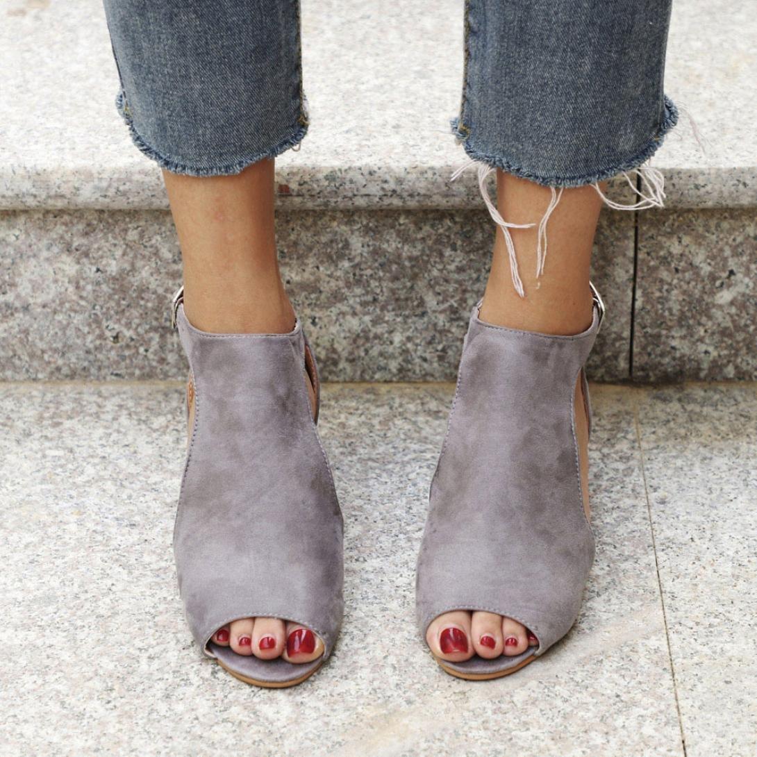 WensLTD Women's Espadrille Platform Wedge Sandals Ankle Strap Shoes Cut Out Peep Toe Shoes Strap B07D8M76KV 6.5 Gray 37fc3e