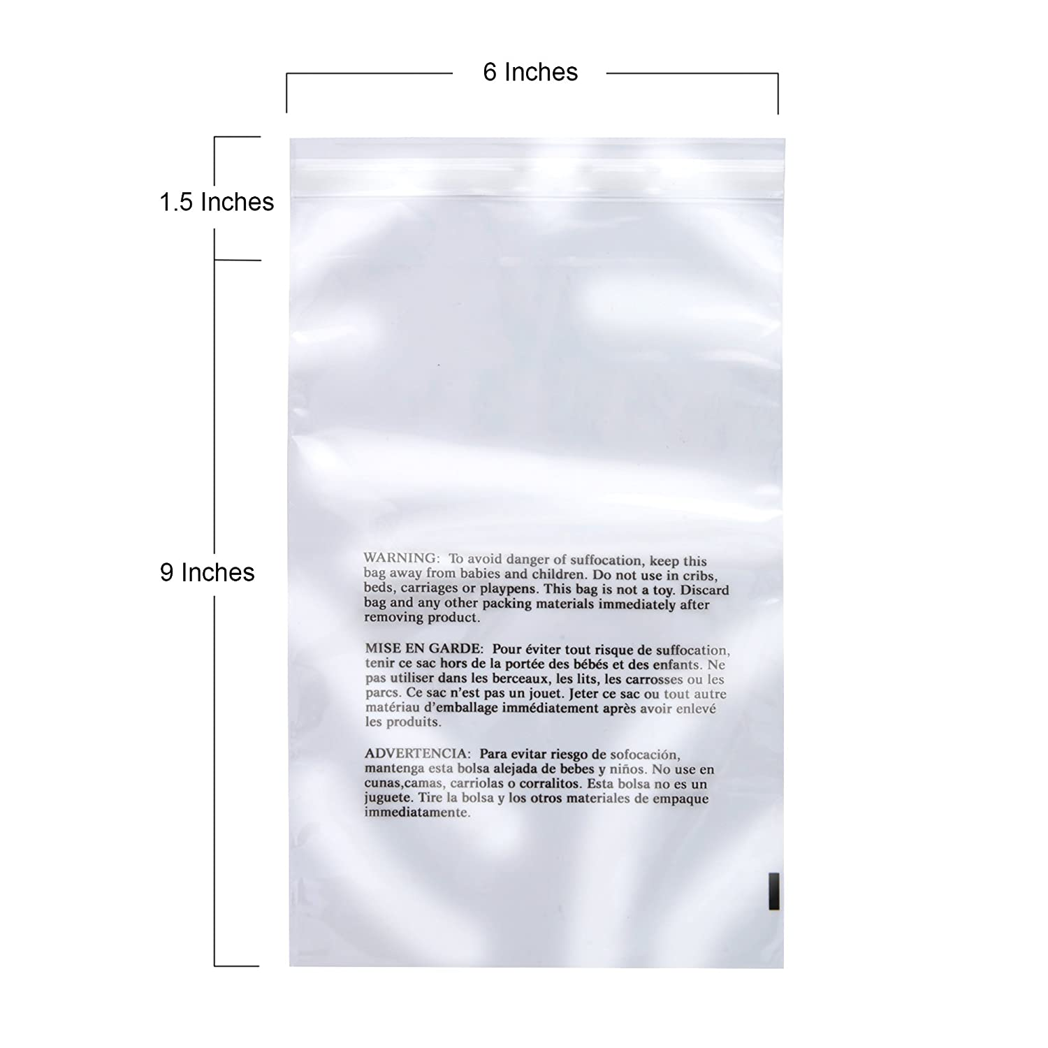 Amazon.com: Retail Supply Co Clear Poly Bags with Suffocation Warning - Multiple Size Options Available - (11x14 Resealable): Office Products