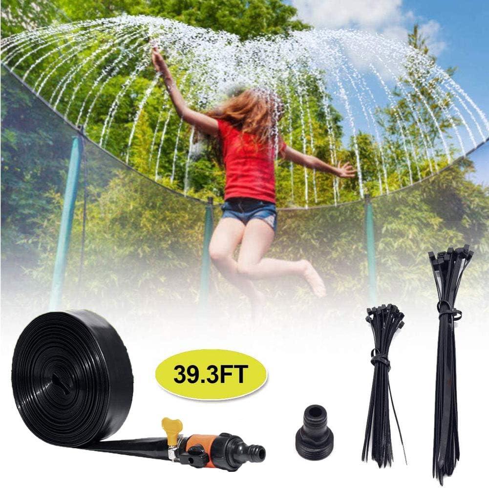 Outdoor 39ft Long Water Park Sprinkler for Kids Trampoline Sprinkler Outside Trampoline Water Game Accessories