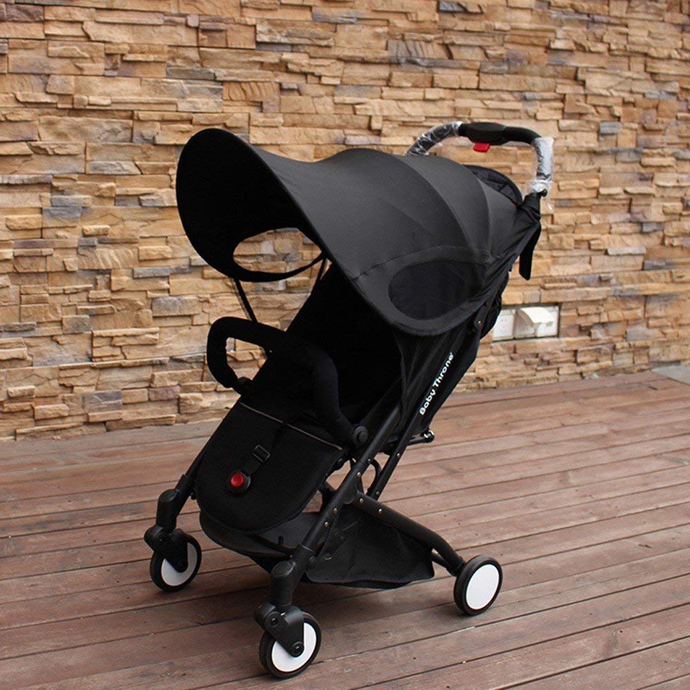ZLMI Version of Baby Stroller Sun Visor Carriage Sun Shade Canopy Cover for Prams Stroller Accessories Car Seat Buggy Pushchair Cap Sun Hood Black by ZLMI (Image #5)