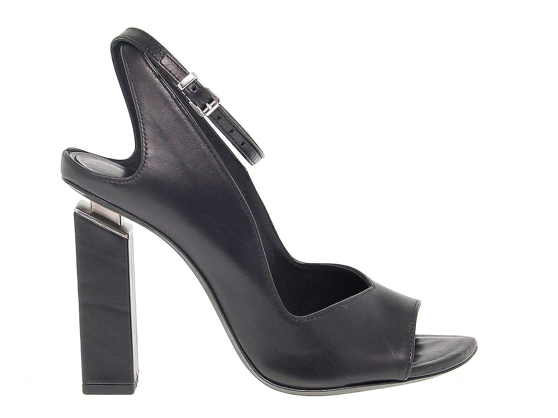 - VIC MATIÉ Women's VICM7504DN Black Leather Sandals