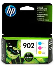 HP 902 Cyan, Magenta & Yellow Ink Cartridges, 3 Cartridges (T6L86AN, T6L90AN, T6L94AN) for HP OfficeJet 6958, 6962; HP OfficeJet Pro 6954, 6968, 6975, 6978