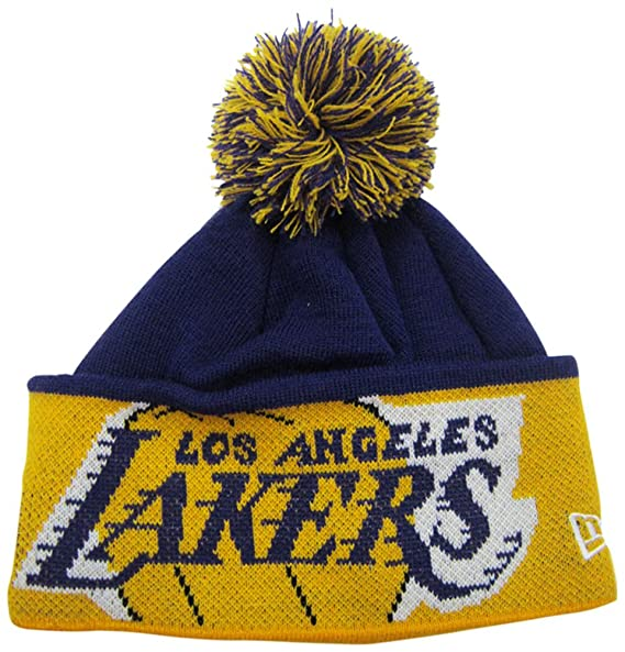 190b983e503 Amazon.com   Los Angeles Lakers Major Cuffed Pom Knit Cap   Beanie ...