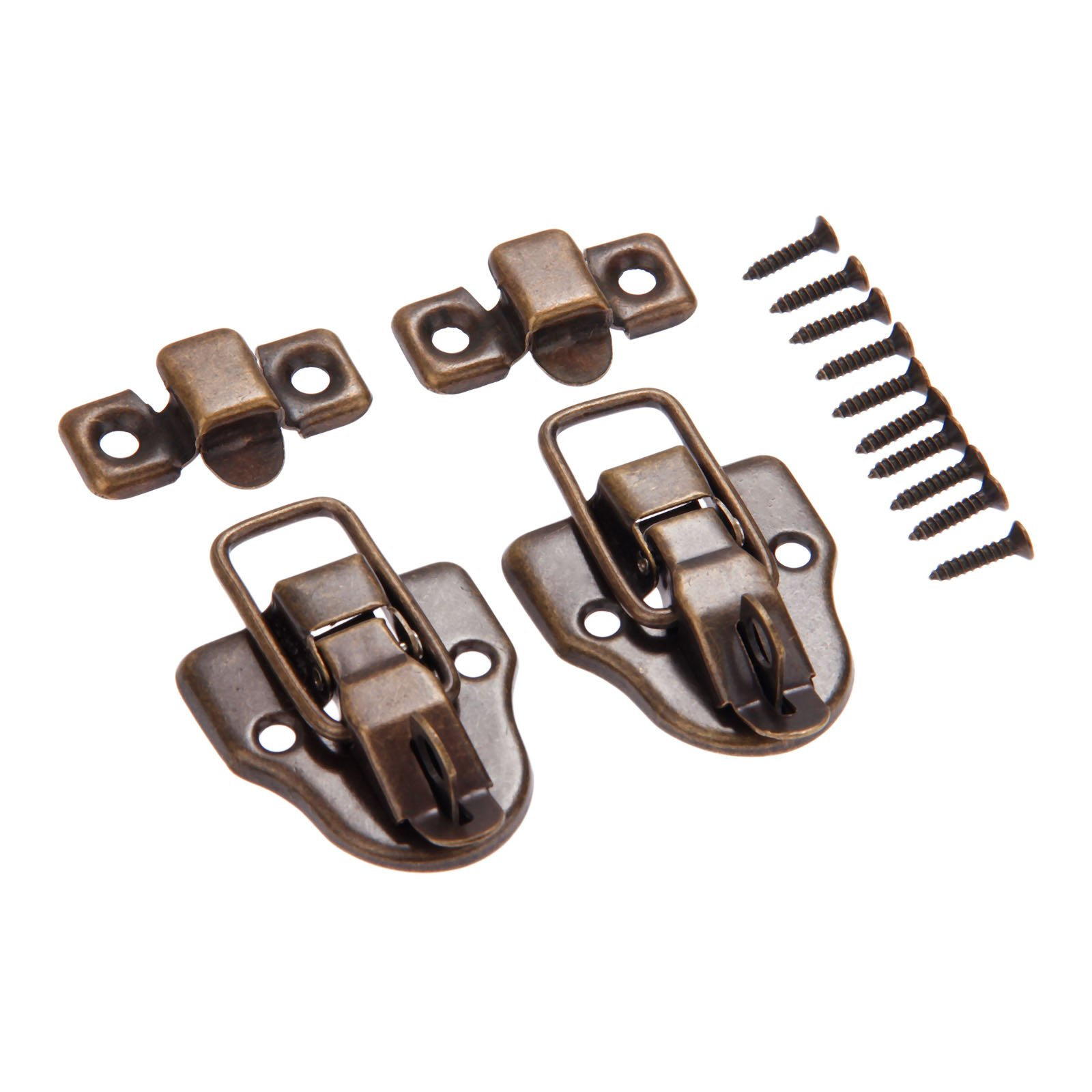 Dophee 10Pcs 2.32''x1.57'' Antique Bronze Retro Style Iron Toggle Fit Case Box Chest Trunk Latch Hasps by dophee (Image #4)