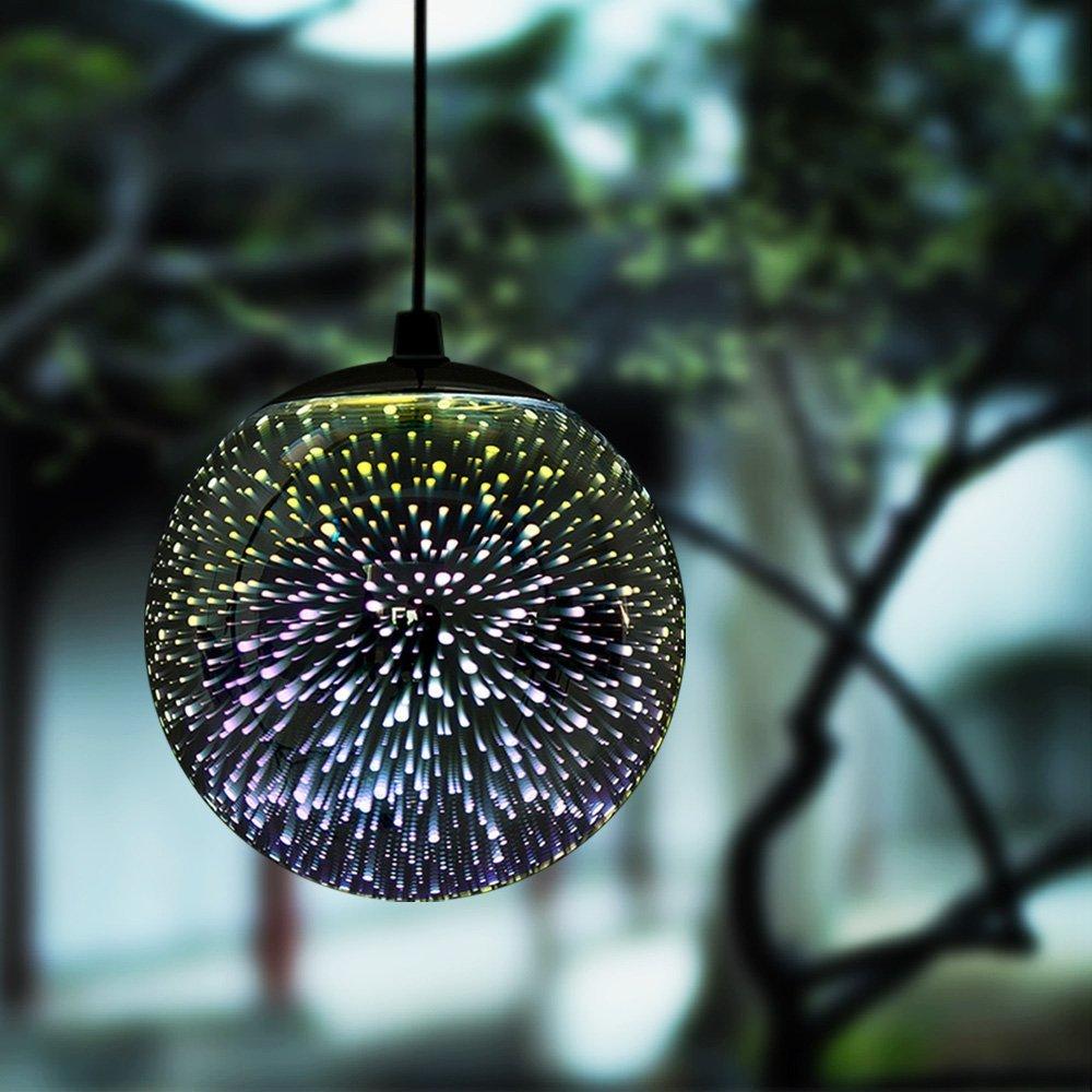 3D Firework Spherical Solar Lamp