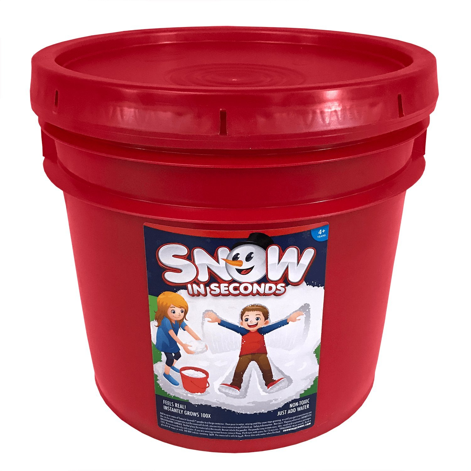 Snow in Seconds Instant Fake Snow XL Party Bucket (Makes 130 Gallons) by Snow in Seconds (Image #1)