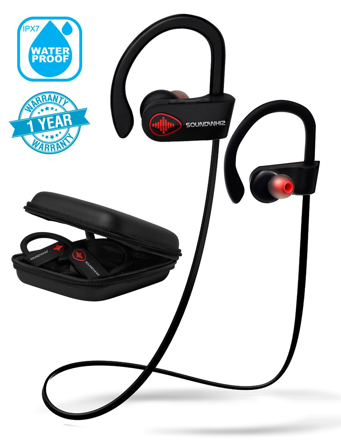 Best Bluetooth Earbuds 2020 For Running Amazon.com: Wireless Bluetooth Running Headphones   SoundWhiz