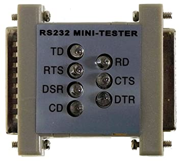RS232 con mini-comprobador de 7 bombillas LED DB25 - DB25 ID7573: Amazon.es: Informática