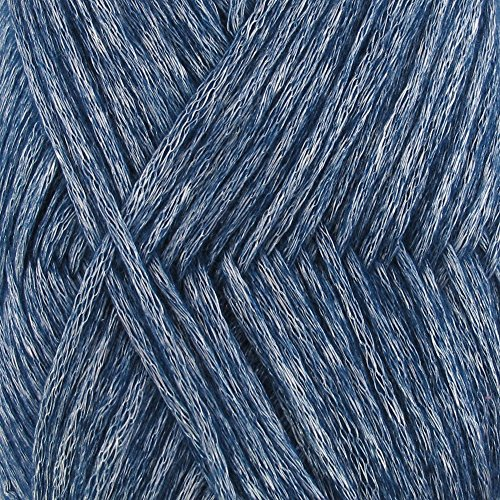 Air Breeze Yarn - Fine Light DK Weight Yarn for Socks, Sweaters, Baby Items - 50g/Skein - Galaxy Blue - 4 skeins